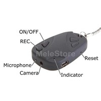 Keychain Car Key Security Spy Camera with Micro SD Slot