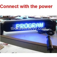 LED Car Display with Remote Control