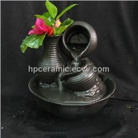 Mat Glazed Ceramic Table Fountain