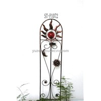 Metal Design Solar Garden Fence