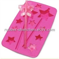 New Fun Silicone Star Shape Ice Cube Tray Mold Party