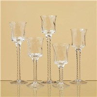 Set 5 Flared Stemmed Glass Votive Candle Holder Wedding