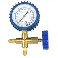 Single Manifold with Gauge - Pressure Gauge, 3 Way Manifold, Refrigeration Parts