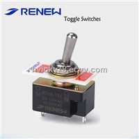 Solder terminal type toggle switch