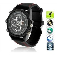 Sports Pinhole Camera Watch with 8GB