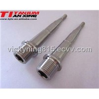 Titanium pedal pin for bicycle