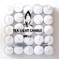 White Tea Light Candles Paraffin Wax and Palm Wax