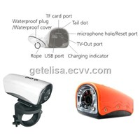 Wide-angle Helmet Sport DVR With PC Camera function