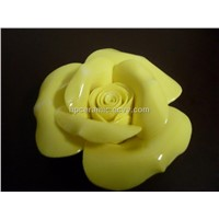 Yellow Porcelain Ceramic Artificial Flower