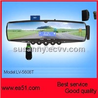 bluetooth car kit,Bluetooth car rear view Mirror with TTS fuction LV-5608T