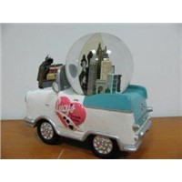 car Water Snow Globe