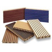 grooved wooden acoustic panel