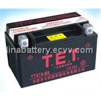 motorcycle battery maintenance-free (YTX7A-BS )