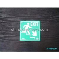 Photoluminescent Aluminium Safety Signs - Exit