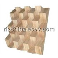 wooden acoustical diffuser panel