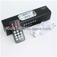 Aluminum Straight Speaker with Remote control for iPhone 4, iPhone 3GS/3G