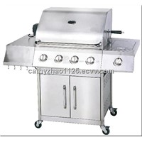 BBQ Side Table Gas Grill With Firebox