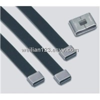 Plastic sprayed stainless steel cable tieYF-O series