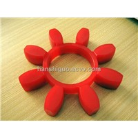 100% virgin polyurethane coupling with red polyester material