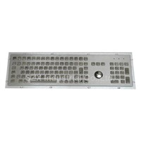 106 Keys Stainless Steel Keyboard With Integrated Trackball (TMS-S478TB-KP-FN)