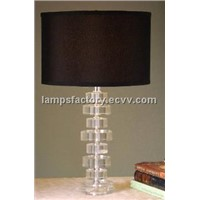 "25"" H CRYSTAL TABLE LAMP"