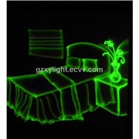 2W single green animation laser light  projector