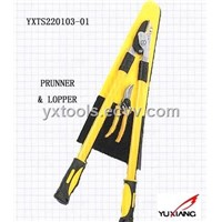 2 Piece Pruner And Lopper Garden Tool Set