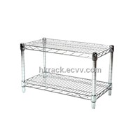2-Tier Chrome Steel Rack