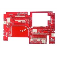 2 layer red solder mask Lead free HAL PCB