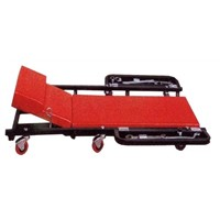 "40""workshop creeper with metal part tray"