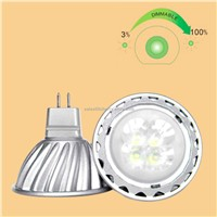 5W High Power LED MR16 4x1 Spot Light Aluminum, 220V