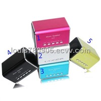 A-8,Music Angel Mini Speaker with FM Radio, Support TF card, USB flash disk