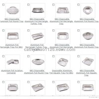 Aluminium Foil Rectangle Tray For BBQ
