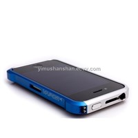 Aluminum case for iPhone4G-Bule+silver
