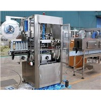 Automatic shrink label sleeving machine for square bottle