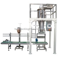 Automatic weighing, filling and packaging machine