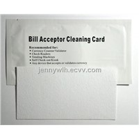 Bill Counter/validator cleaning cards