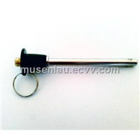 Button handle quick release ball lock pin