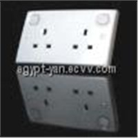Double 13A Wall Switch Socket with Neon ALI-86-014