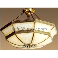 Elegant indoor copper hanging ceiling lamp,Newest European brass lighting