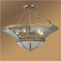 European copper chandlier brass lighting, pendant lamp