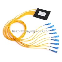 SC connector 1*9 SM Optical Fiber Splitter / Cable Splitter