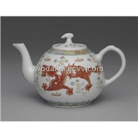 Fine China tea pot tea set art glazing