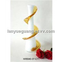 Flowing Ribbon Art Glass Vase