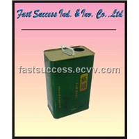 Food oil tin container