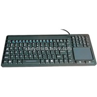 IP68 Silicone Military Keyboard with Touchpad (X-TP107SD)