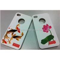 Iphone4G Water transfer printing+Rubber oil
