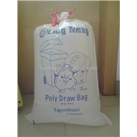 LDPE drawstring trash bags with printing