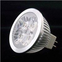 MR16 LED Spotlight with 4 x 1W Power and 50 to 60Hz Frequenc