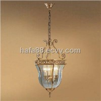 Modern outdoor and indoor copper hanging lighting, decorative hanging chain lamp